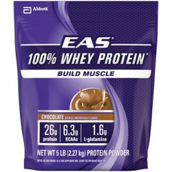 Proteina Aislada (Isolate) 100% Whey de EAS saco de 5 libras (2.3 kg)